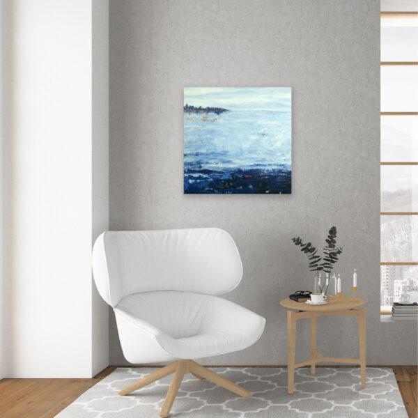 Abstract Painting Lake Reflection IX
