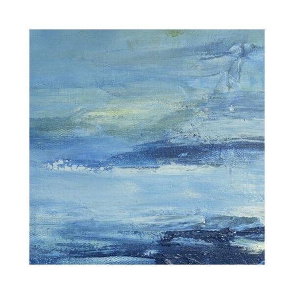 Blue Abstract Art Closeup Lake Reflection X