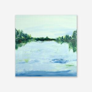 Contemporary Water Art Lake Reflection V