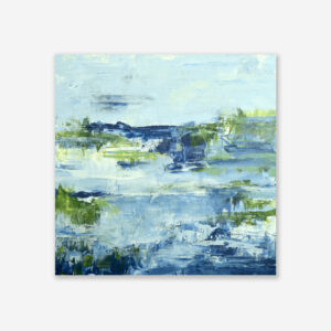 Lake Reflection V Abstract Water Art