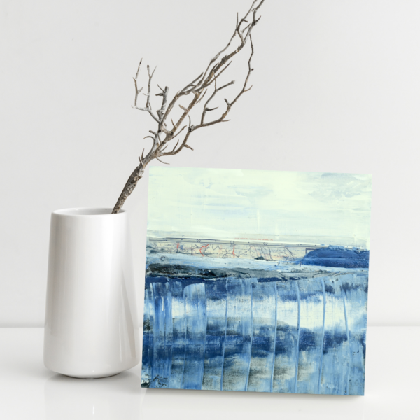 Water art on small painting Jem 127