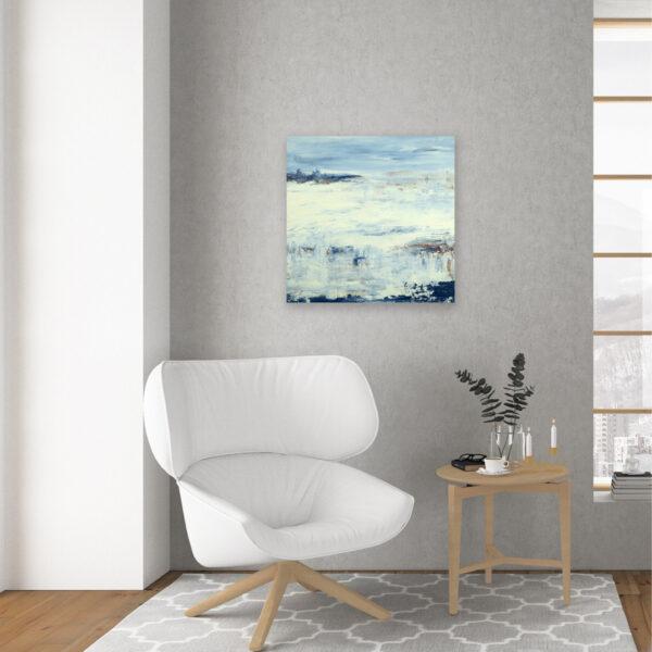 Winter Abstract Art Lake Reflection XI