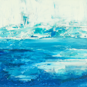 Abstract Water Art of Sapphire Hot Spring in Yellowstone