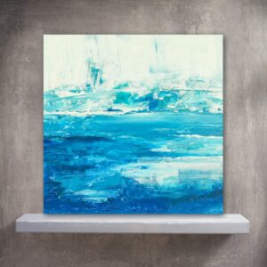 Yellowstone National Park Abstract Water Painting of Sapphire Pool
