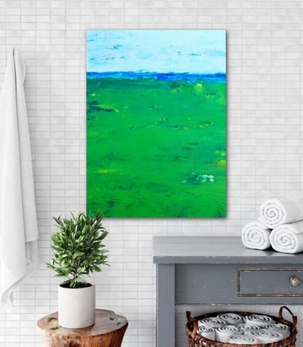 Golf Painting of Course and Ocean on Canvas