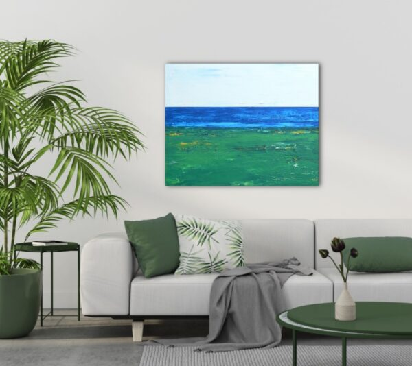 Serenity on the Green Abstract Golf Art of The Ocean Course