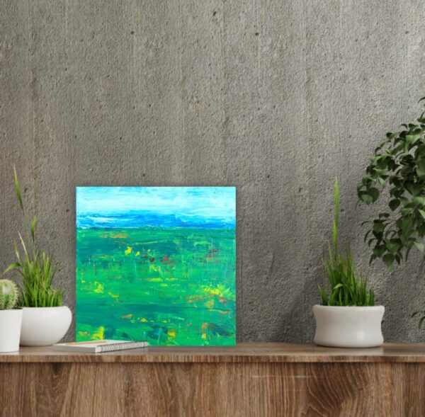 Golf Course Small Acrylic Painting