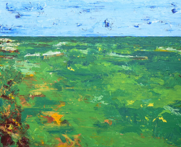 Acrylic Painting of The Ocean Course at Kiawah Island
