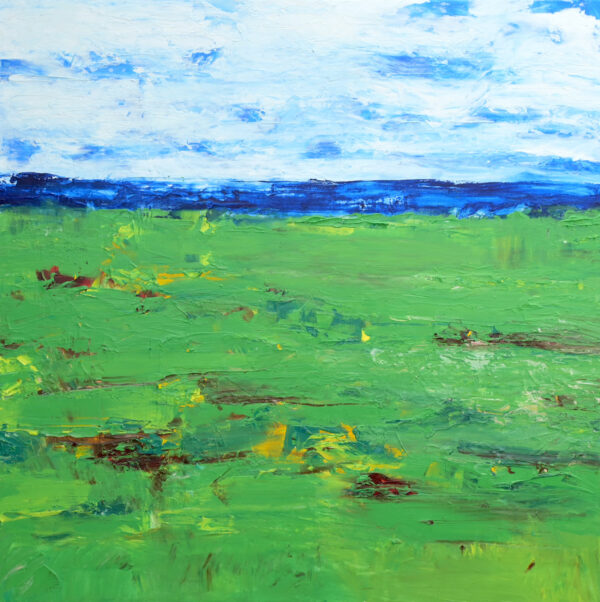 Green Abstract Painting of a Golf Course